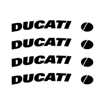 Ducati rim decals set