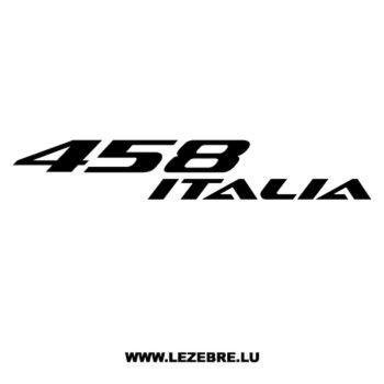 Sticker Ferrari 458 Italia