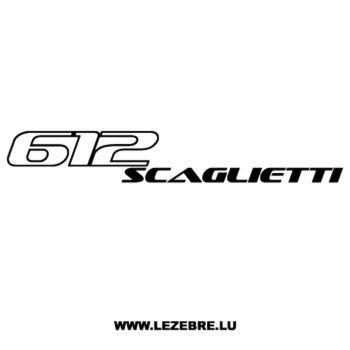 Sticker Ferrari 612 Scaglietti