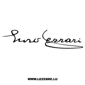 Ferrari Enzo Signature Decal