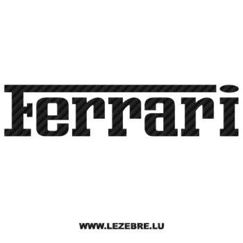Ferrari Logo Carbon Decal 3