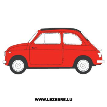 Fiat 500 Drawing Decal