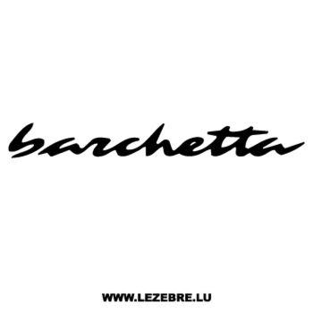 Fiat Barchetta Decal