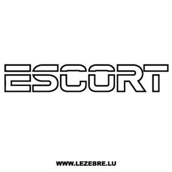 > Sticker Ford Escort