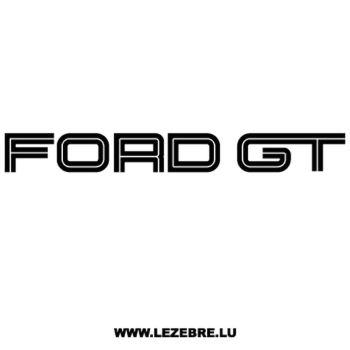 > Sticker Ford GT
