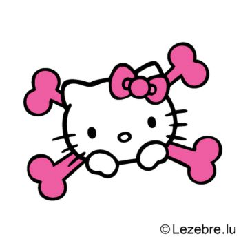Sticker Hello Kitty Tete de Mort