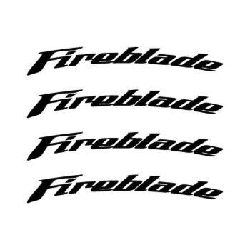 Honda Fireblade rim decals set