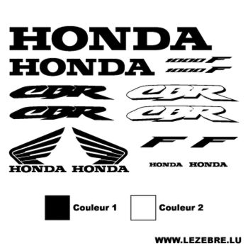 Honda CBR 1000F Decals set