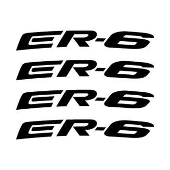 Kawasaki ER-6 rim decals set