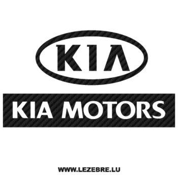 Sticker Carbone Kia Motors 3