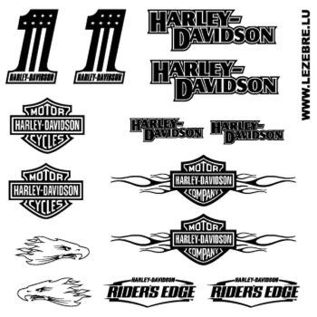 Kit Stickers Harley Davidson ★
