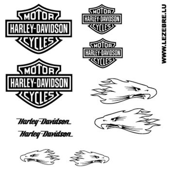 Harley Davidson Eagle decals set 2