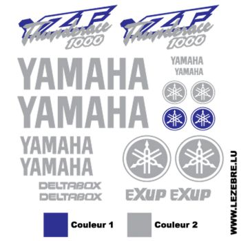 Yamaha YZF Thunderace 1000 Stickers set