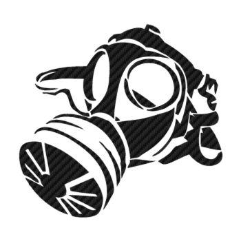 Sticker Carbone Masque à Gaz