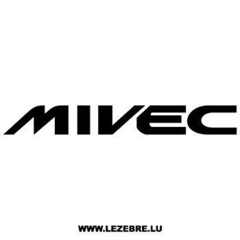 Mitsubishi Mivec Decal