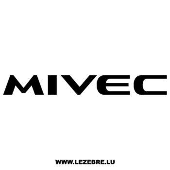 Sticker Mitsubishi Mivec 2