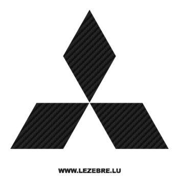 Mitsubishi Logo Carbon Decal 2