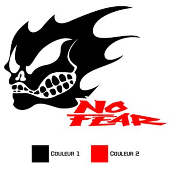 Sticker No Fear Skull 3