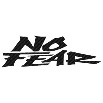 No Fear Carbon Decal 7