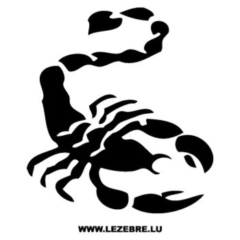 Scorpion Decal