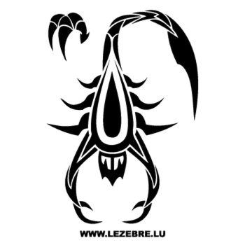 Sticker Skorpion Tribal