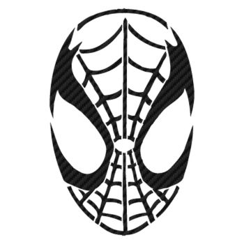 Spider Mask Carbon Decal