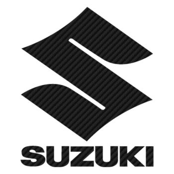 Sticker Carbone Suzuki Logo 3