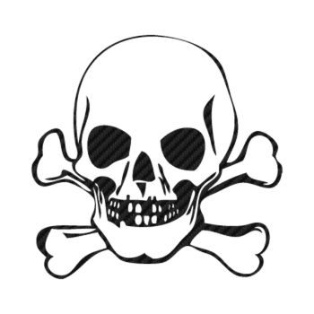 Skull Carbon Decal 2