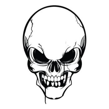 Sticker Totenkopf 4