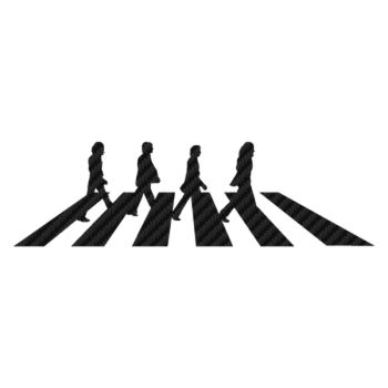 Sticker Carbone The Beatles Abbey Road