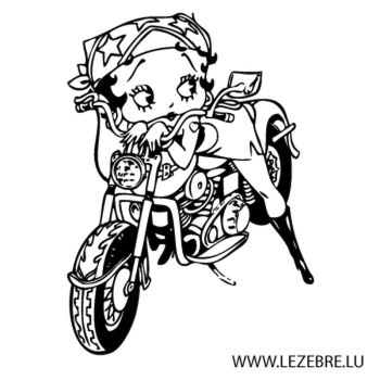 Sticker Betty Boop Sexy Moto