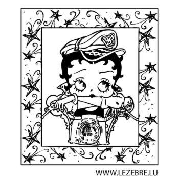 Sticker Betty Boop Moto 2