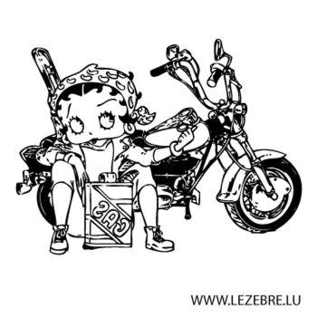 Sticker Betty Boop Moto 3
