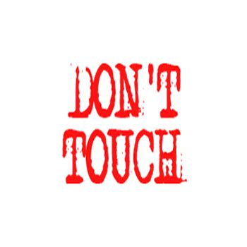 Tee shirt Don't Touch (Pas Touche)
