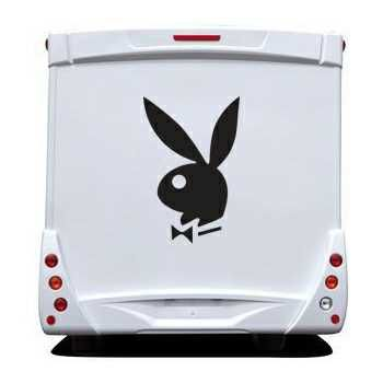 Sticker Camping Car Bunny Playboy