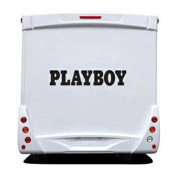 Sticker Camping Car Playboy Logo Écriture
