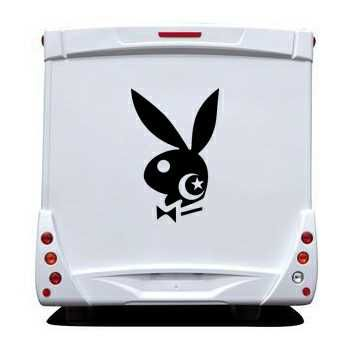 Sticker Camping Car Playboy Bunny Algérien