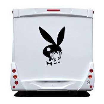 Sticker Camping Car Playboy Bunny Albanais