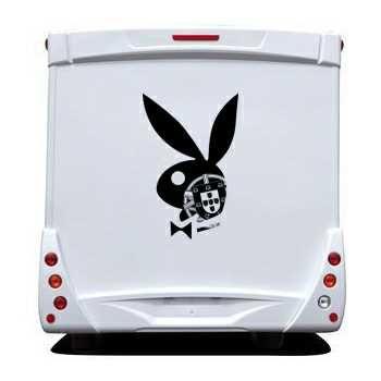 Sticker Camping Car Playboy Bunny Escudo Portugais