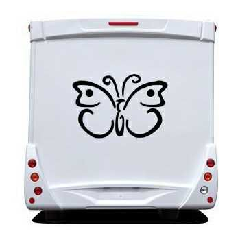 Sticker Camping Car Papillon 58