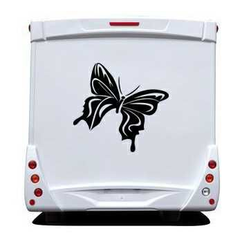 Sticker Camping Car Papillon 62