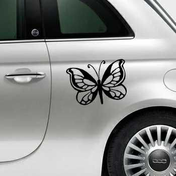 Butterfly Fiat 500 Decal 64