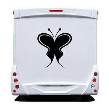 Sticker Camping Car Papillon 66