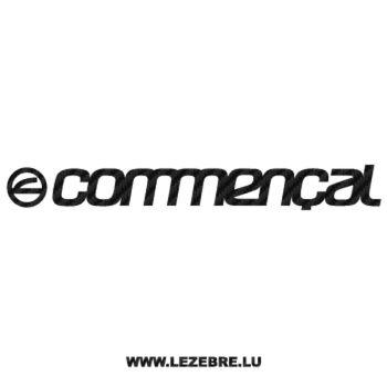 Sticker Carbone Commençal Logo