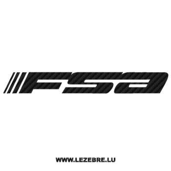 Sticker Carbone FSA Logo