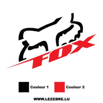 Sticker Fox Racing 3