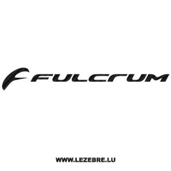 Fulcrum Logo Carbon Decal 2