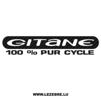 Sticker Carbone Gitane 100% Pur Cycle