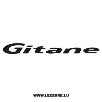 Sticker Carbone Gitane Logo 2