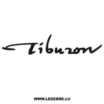 Hyundai Tiburon Carbon Decal